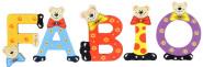 Playshoes Kinder Holz-Buchstaben Namen-Set FABIO - sortiert