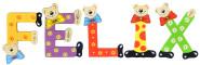 Playshoes Kinder Holz-Buchstaben Namen-Set FELIX - sortiert