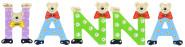 Playshoes Kinder Holz-Buchstaben Namen-Set HANNA - sortiert