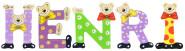 Playshoes Kinder Holz-Buchstaben Namen-Set HENRI - sortiert