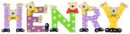 Playshoes Kinder Holz-Buchstaben Namen-Set HENRY - sortiert
