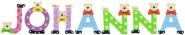 Playshoes Kinder Holz-Buchstaben Namen-Set JOHANNA - sortiert