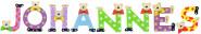 Playshoes Kinder Holz-Buchstaben Namen-Set JOHANNES - sortiert