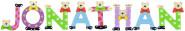 Playshoes Kinder Holz-Buchstaben Namen-Set JONATHAN - sortiert