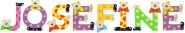 Playshoes Kinder Holz-Buchstaben Namen-Set JOSEFINE - sortiert