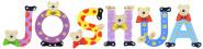 Playshoes Kinder Holz-Buchstaben Namen-Set JOSHUA - sortiert