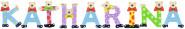 Playshoes Kinder Holz-Buchstaben Namen-Set KATHARINA - sortiert