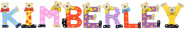 Playshoes Kinder Holz-Buchstaben Namen-Set KIMBERLEY - sortiert