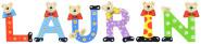Playshoes Kinder Holz-Buchstaben Namen-Set LAURIN - sortiert