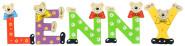 Playshoes Kinder Holz-Buchstaben Namen-Set LENNY - sortiert