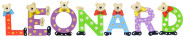 Playshoes Kinder Holz-Buchstaben Namen-Set LEONARD - sortiert