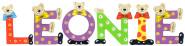 Playshoes Kinder Holz-Buchstaben Namen-Set LEONIE - sortiert