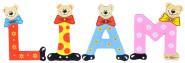 Playshoes Kinder Holz-Buchstaben Namen-Set LIAM - sortiert