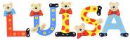 Playshoes Kinder Holz-Buchstaben Namen-Set LUISA - sortiert