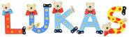 Playshoes Kinder Holz-Buchstaben Namen-Set LUKAS - sortiert