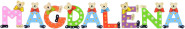 Playshoes Kinder Holz-Buchstaben Namen-Set MAGDALENA - sortiert