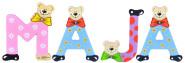 Playshoes Kinder Holz-Buchstaben Namen-Set MAJA - sortiert