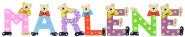 Playshoes Kinder Holz-Buchstaben Namen-Set MARLENE - sortiert