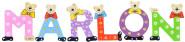 Playshoes Kinder Holz-Buchstaben Namen-Set MARLON - sortiert