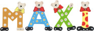 Playshoes Kinder Holz-Buchstaben Namen-Set MAXI - sortiert