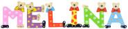 Playshoes Kinder Holz-Buchstaben Namen-Set MELINA - sortiert