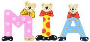 Playshoes Kinder Holz-Buchstaben Namen-Set MIA - sortiert