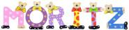 Playshoes Kinder Holz-Buchstaben Namen-Set MORITZ - sortiert
