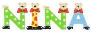 Playshoes Kinder Holz-Buchstaben Namen-Set NINA - sortiert