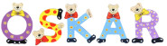 Playshoes Kinder Holz-Buchstaben Namen-Set OSKAR - sortiert