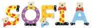 Playshoes Kinder Holz-Buchstaben Namen-Set SOFIA - sortiert