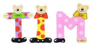 Playshoes Kinder Holz-Buchstaben Namen-Set TIM - sortiert