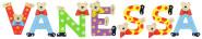 Playshoes Kinder Holz-Buchstaben Namen-Set VANESSA - sortiert