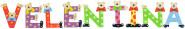 Playshoes Kinder Holz-Buchstaben Namen-Set VELENTINA - sortiert