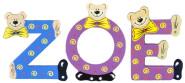 Playshoes Kinder Holz-Buchstaben Namen-Set ZOE - sortiert