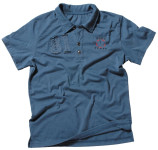 Polo-Shirt mit Knopfleiste, blau, Pure Trash, Größe XXL