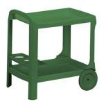 PROGARDEN Servierwagen Astro, Garten-Servierwagen, Garten-Beistelltisch, 53 x 74 x 73 cm, in grün, aus Kunststoff