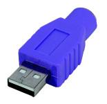 PS2 USB Adapter PS2 Buchse USB Typ A Stecker