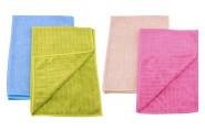 purclean 2er Set Microfasertücher mit 30% Polyamide, extra saugstark, ca. 60 x 40 cm, Auslieferung in grün/blau oder rosa/beige