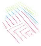 purclean 3er Set Microfaser Allzwecktücher 40 x 35 cm - kombiniert Putzlappen und Staubwedel