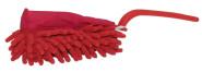 purclean Microfaser Hand-Duster klein - kombiniert Putzlappen und Staubwedel, rot