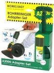 purclean Rohrreiniger A2000 Adapter-Set - macht Pümpel, Pömpel u. Rohrreinigungsspirale überflüssig!, WC-Adapter u. Griff