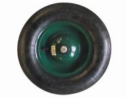 REWWER-TEC Ersatz-Rad für Schiebkarre, Schubkarren, mit Schlauch und Metall-Felge
