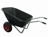 REWWER-TEC Kunststoffmuldenkarre, Schubkarre 160 Liter, 2-rädrig