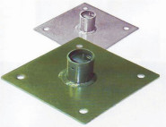 REWWER-TEC Pfostenfuß anthrazit New-System 40x40