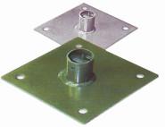 REWWER-TEC Pfostenfuß grün New-System 40x40