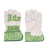 Rivanto® Arbeitshandschuhe gemustert Größe M, Pflanz- und Bodenhandschuhe für Garten und Beet, Garten Handschuhe, atmungsaktiv