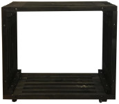 Rivanto® Bartisch Holz schwarz 120 x 32,5 x 110 cm, moderner Bartisch, Barmöbel, schwarz