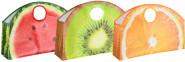 Rivanto® Big shopper Früchte aus Kunststoff, 59 x 15,5 x 40,4 cm, mit großem Grifföse, sortierte Optik, keine Motivwahl möglich