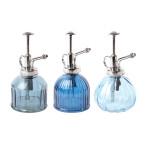 Rivanto® Blautöne Pflanzensprüher aus Glas, Fassungsvermögen 200/250 ml, farbig sortiert, Farbwahl nicht möglich, Blumen Befeuchter