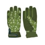 Rivanto® Damen- Garten Handschuhe gemustert Größe M, Pflanz- und Bodenhandschuhe für Garten und Beet, Garten Handschuhe, atmungsaktiv